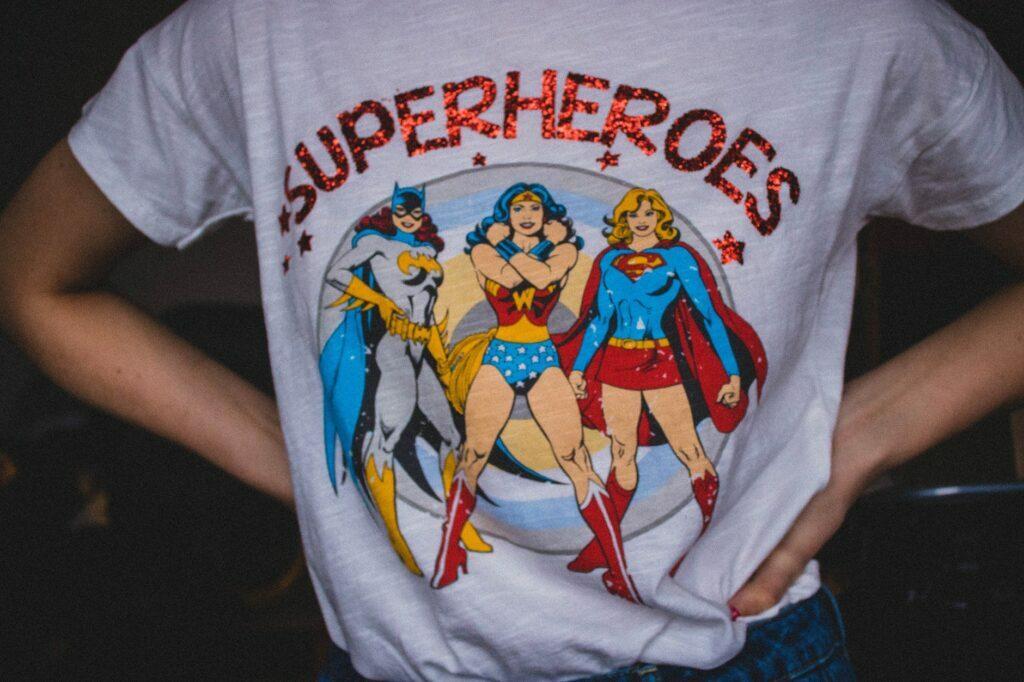 superheroes print on demand t-shirt