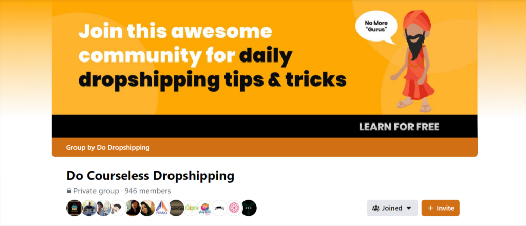 Facebook group for ecommerce tips and tricks