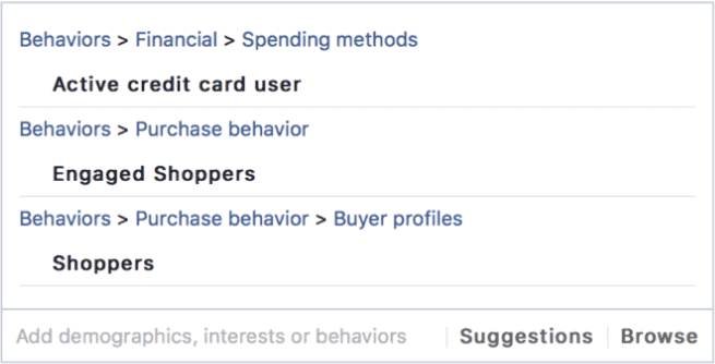 You can target engaged shoppers on Facebook Ads