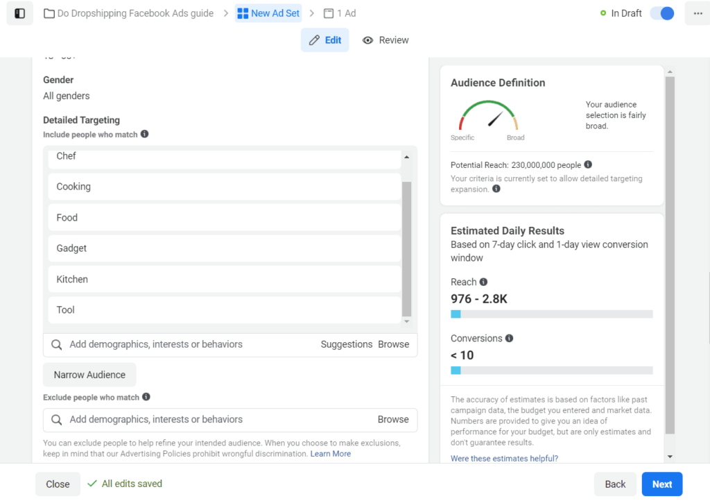 Target your users based on interests with Facebook Ads